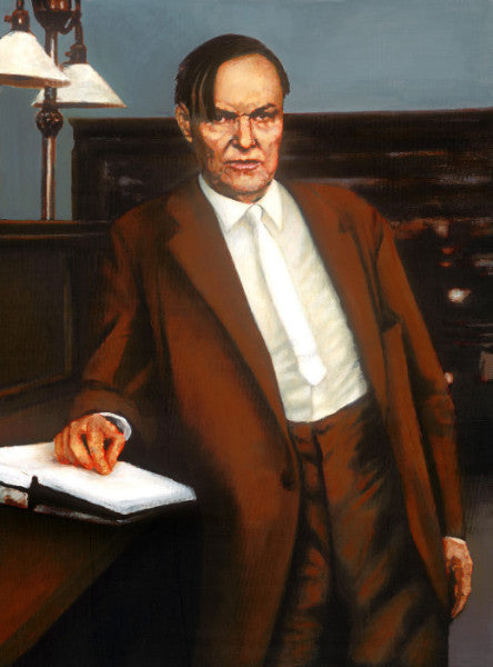 Clarence Darrow argues against the death penalty in Chicago 1924 by artist Trevor Goring