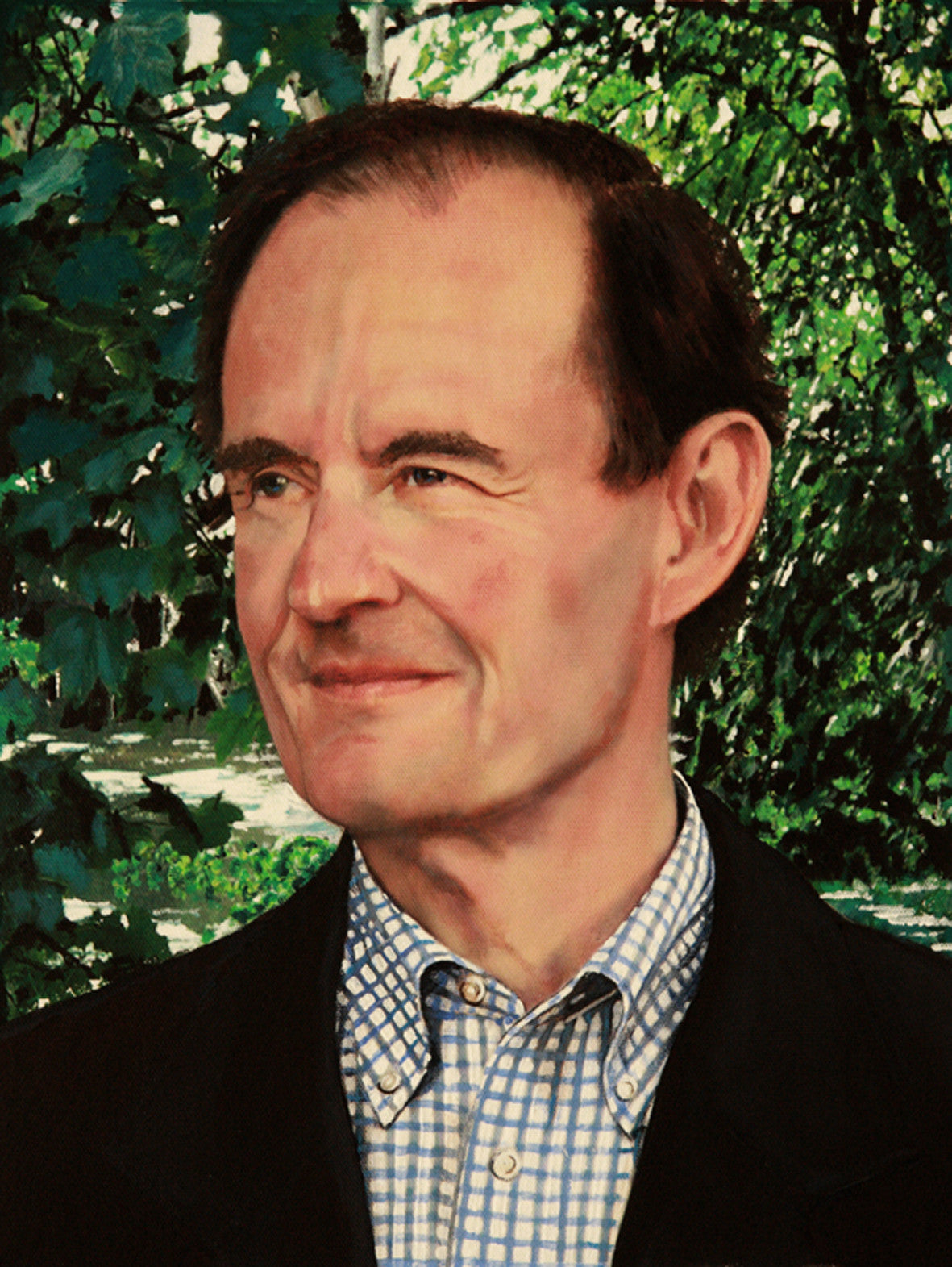 David Boies portrait by artist Trevor Goring