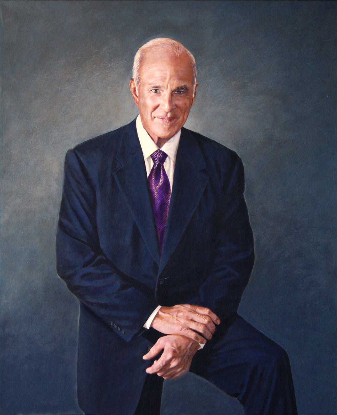 Gilbert T. Adams portrait by artist Trevor Goring