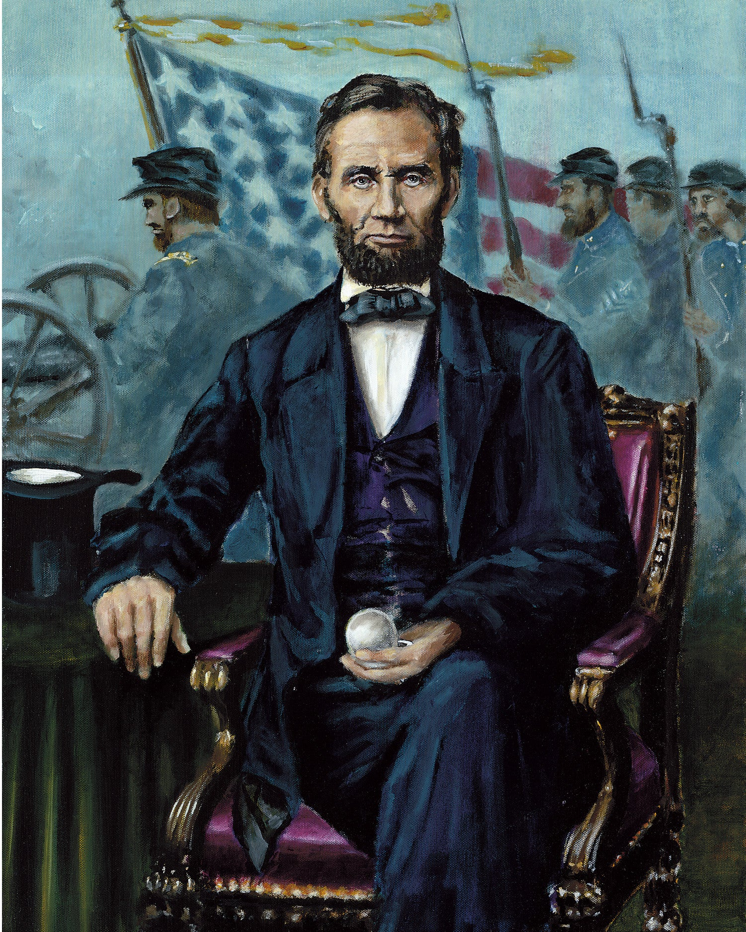 Abraham Lincoln remembers by artist Trevor Goring