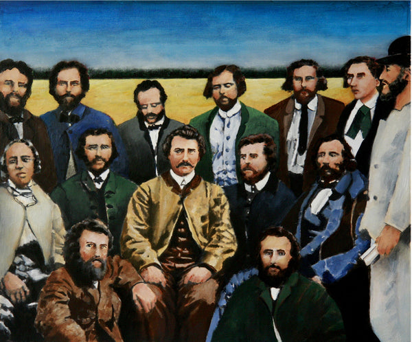Louis Riel and his provisional cabinet by artist Trevor Goring