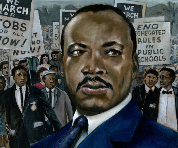 Martin Luther King by artist Trevor Goring