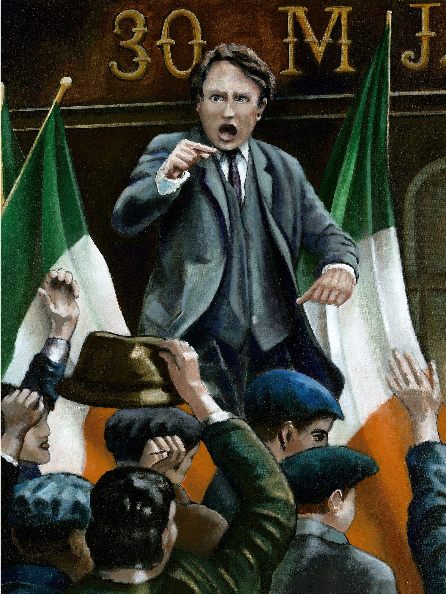 Michael Collins by artist Trevor Goring