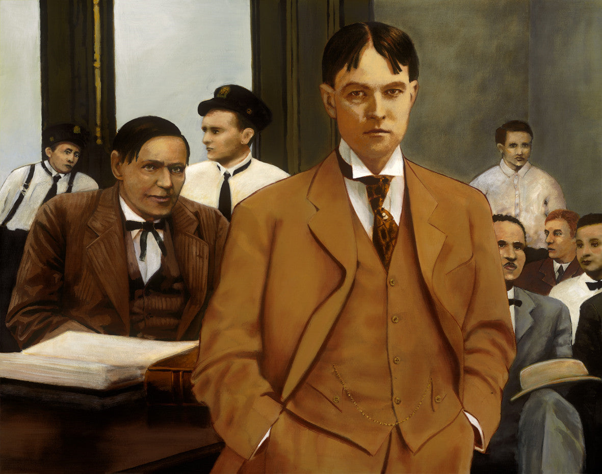 Earl Rogers defends Clarence Darrow Los Angeles 1912 by artist Trevor Goring