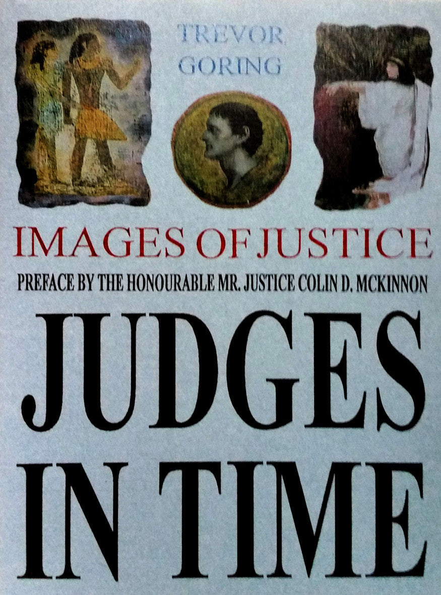 Judges In TIme handmade book by Trevor Goring