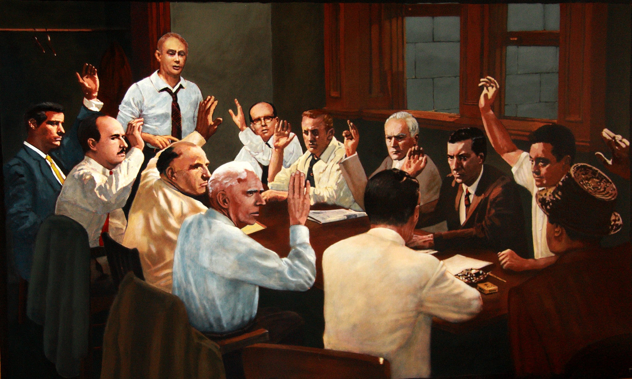 Lone Hold Out Juror by artist Trevor Goring