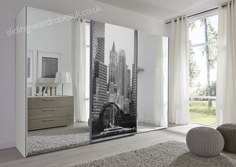 Schlafzimmer New York White 3m+