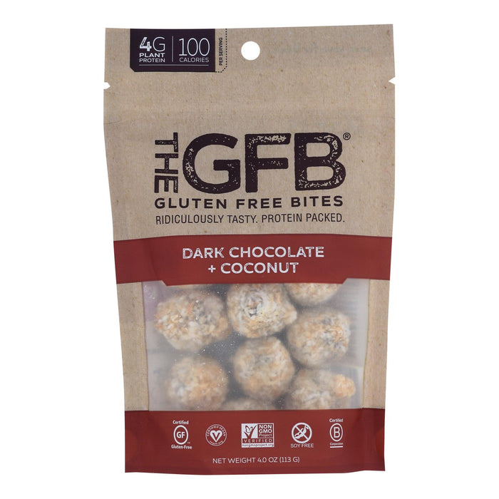 The Gluten Freeb Bites - Dark Chocolate Coconut - Case Of 6 - 4 Oz