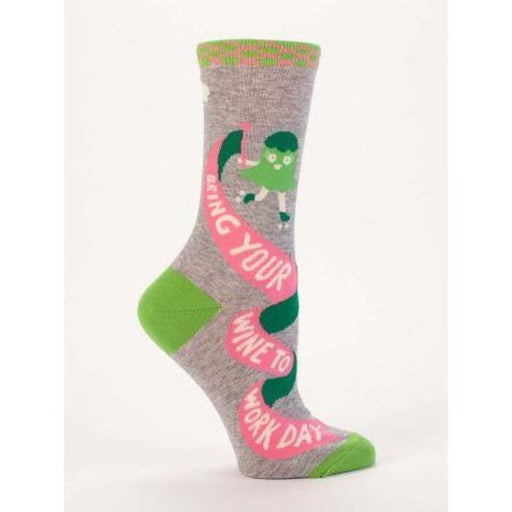 Bring Your Wine Work Day Women's Socks - Urban Treehouse