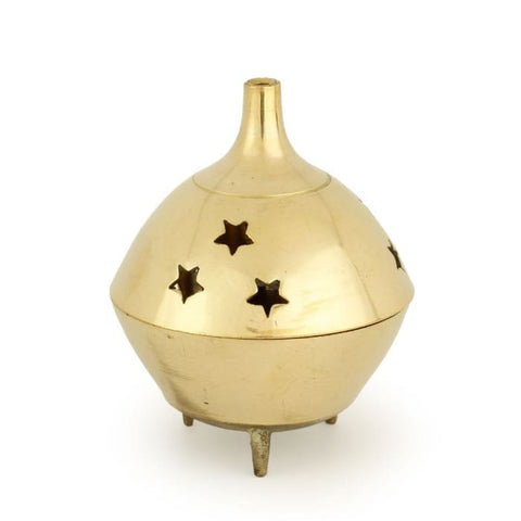 Burner - Brass Burner 3 Legged Star Jali 3Hx2.5D