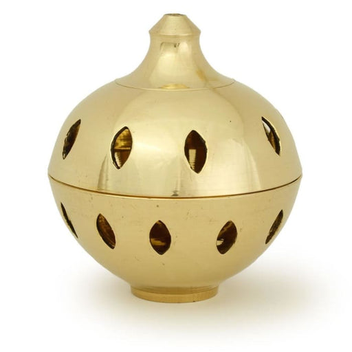 "Burner - Brass Burner, Clear Ball 3.25""Hx3""D - Urban Treehouse"