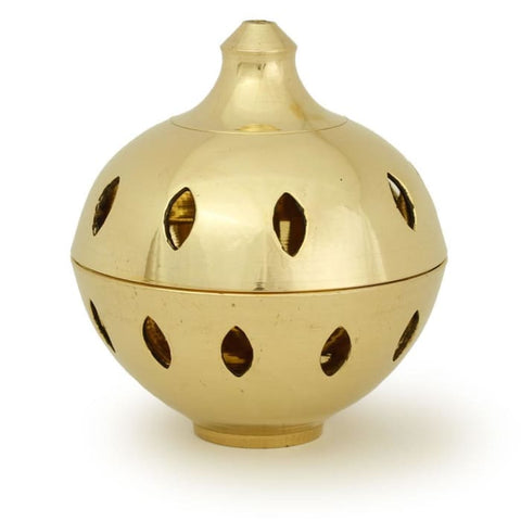 Burner - Brass Burner Clear Ball 3.25Hx3D