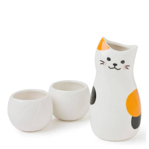 Calico Cat Sake Set - Kitchen