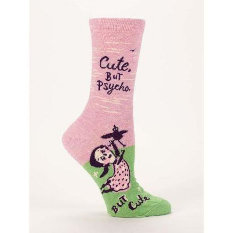 Cute. But Psycho But Cute Womens Socks - Apparel & Accessories