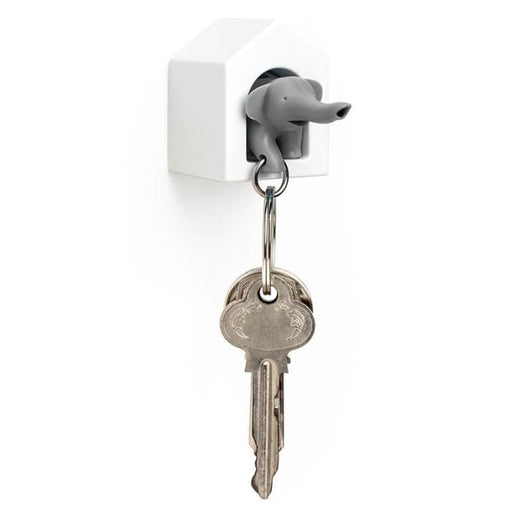 Elephant Key Ring Holder (Grey) - Home Décor