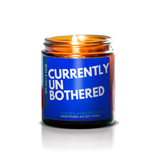 CURRENTLY UNBOTHERED: Sea Salt & Sage Scented Soy Candle