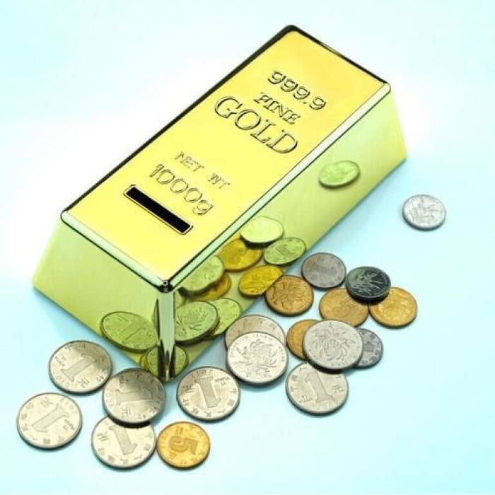 Gold Bar Piggy Bank - Fun + Gadget