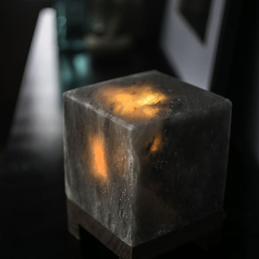 HIMALAYAN CUBE SALT LIGHT - GREY - Urban Treehouse