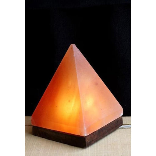 HIMALAYAN PYRAMID SALT LIGHT - AMBER - Urban Treehouse
