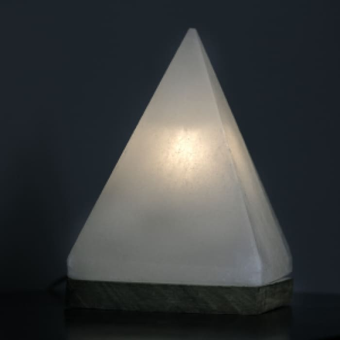 Himalayan Pyramid Salt Light Limited Quantity - White - Home Décor