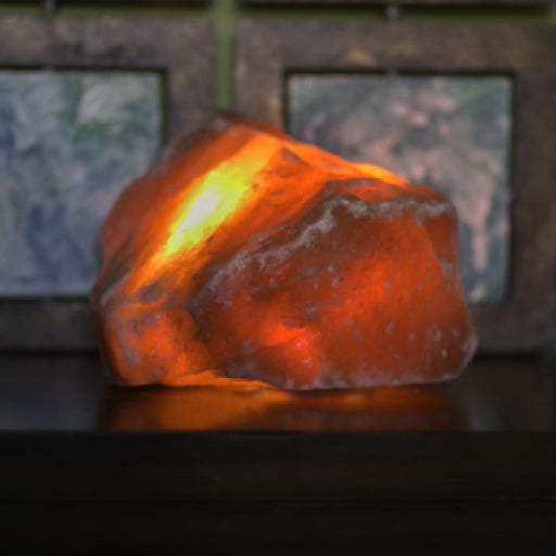 HIMALAYAN RAW SALT LIGHT - AMBER - Urban Treehouse