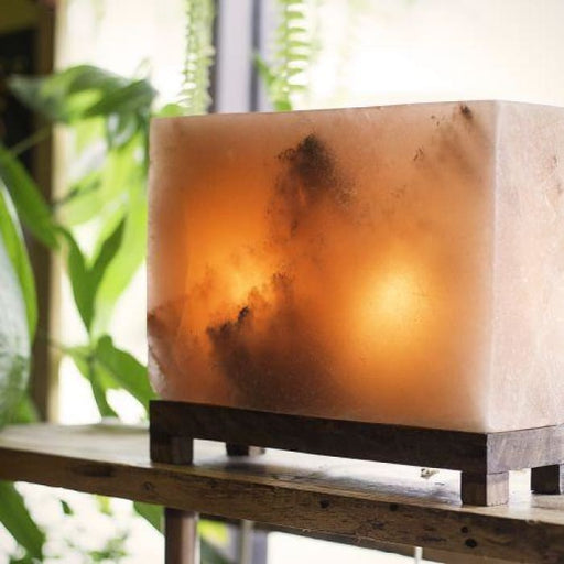HIMALAYAN RECTANGLE SALT LIGHT - AMBER - Urban Treehouse