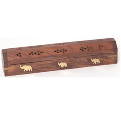 Incense Burner - Wooden Box with Storage - Elephant - Urban Treehouse