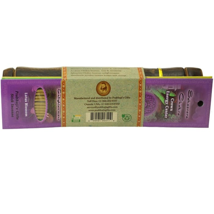 Incense Gift Set - Bamboo Burner + 3 Chakra Incense Sticks Packs & Greeting - Always - Urban Treehouse