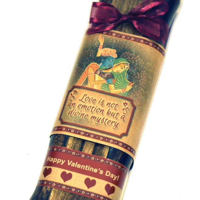 Incense Gift Set - Bamboo Burner + 3 Harmony Incense Packs For Love And Mystery & Love Greeting - Divine Mystery