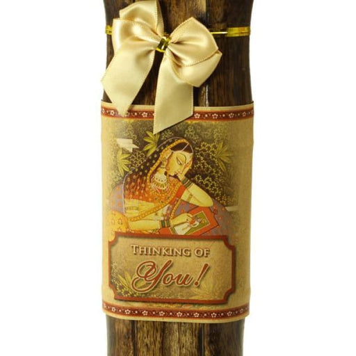 Incense Gift Set - Bamboo Burner + 3 Meditation Incense Stick & Greeting - Thinking of you - Urban Treehouse