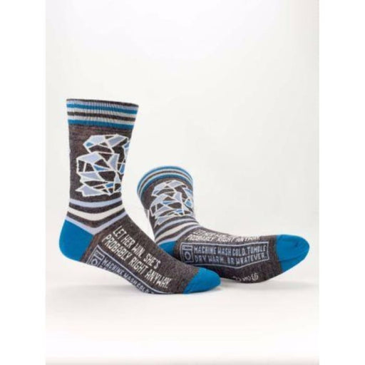 Let Her Win, She's Probabry Right Anyway Men's Socks - Urban Treehouse