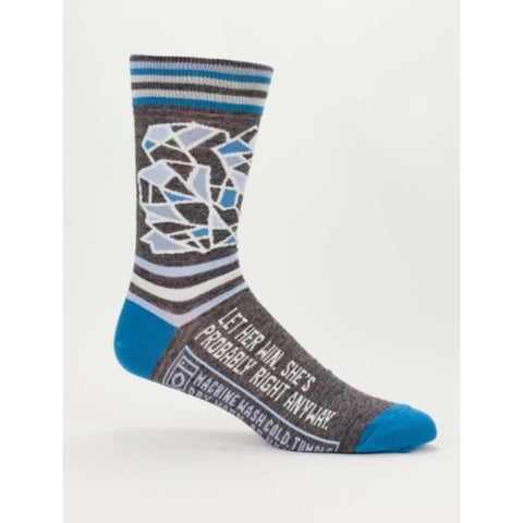 Let Her Win Shes Probabry Right Anyway Mens Socks - Apparel & Accessories