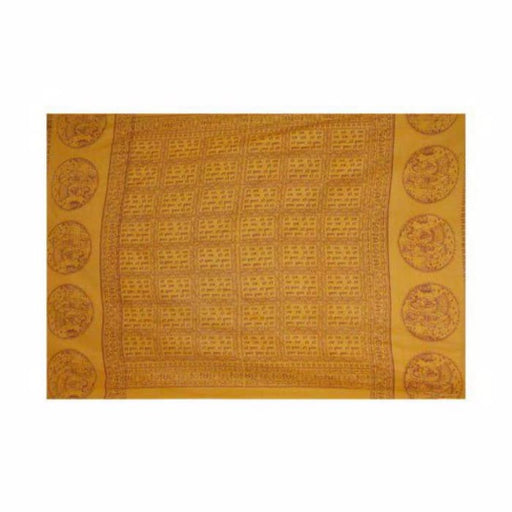 Meditation shawl - Radha Krishna - large yellow - Urban Treehouse