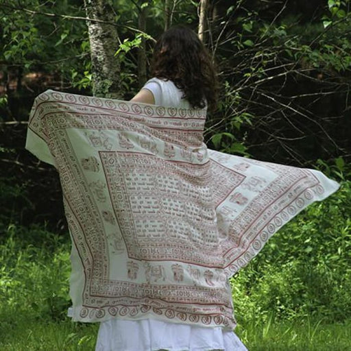 Meditation Yoga Prayer Shawl - Maha Mantra - White Large - Urban Treehouse