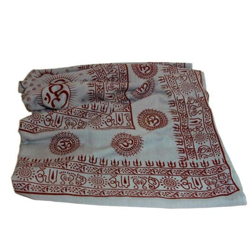 Meditation Yoga Prayer Shawl- Om - Grey Large - Urban Treehouse