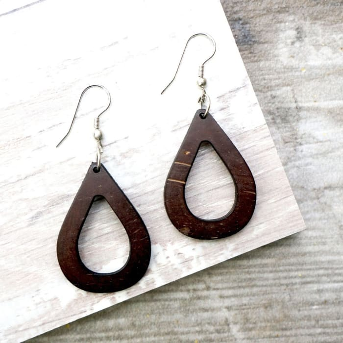 Open Tear Drop Earrings - Urban Treehouse