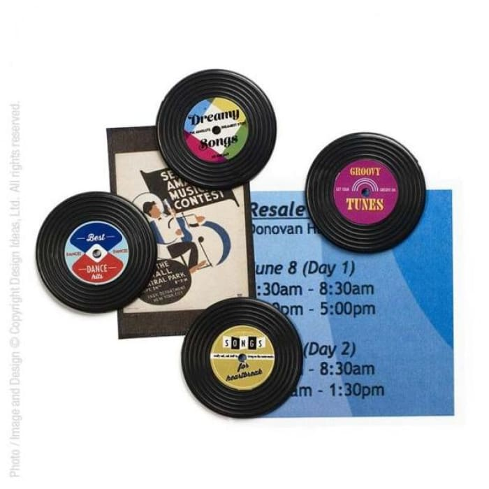Record Vinyl Magnets (Set Of 4) - Stationary