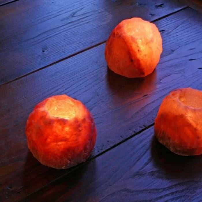 Salt Tea Light Holders (1 Pair) - Home Décor