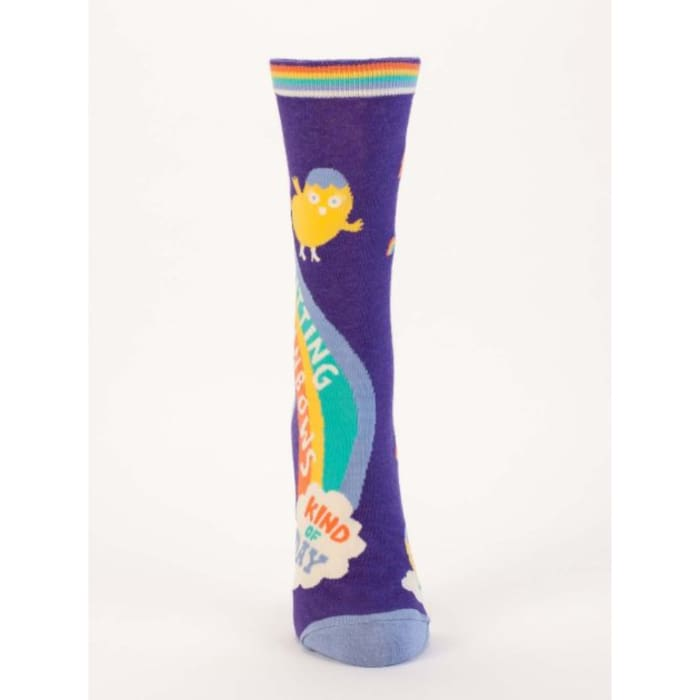 Shitting Rainbows Kind Of Day Womens Socks - Apparel & Accessories