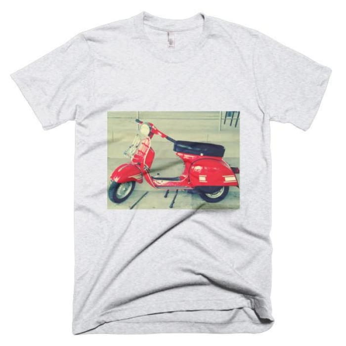 Short Sleeve Mens T-Shirt Vespa - Ash Grey / Xs - Apparel & Accessories