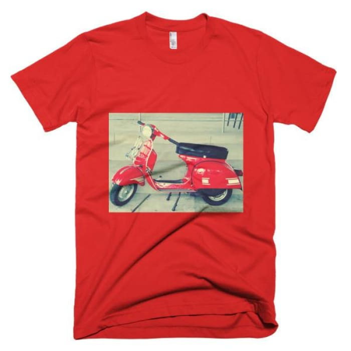 Short Sleeve Mens T-Shirt Vespa - Red / Xs - Apparel & Accessories