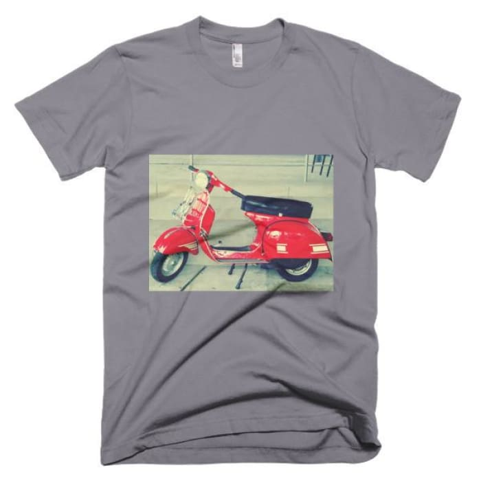 Short Sleeve Mens T-Shirt Vespa - Slate / Xs - Apparel & Accessories