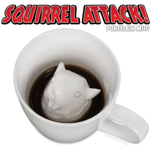 Squirrel Attack Porcelain Mug - Funny