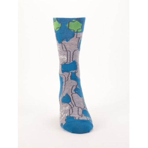 Sure I'm Listening, With My Butt Men's Socks - Urban Treehouse