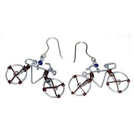 Wire Bicycle Earrings - Creative Alternatives - Urban Treehouse