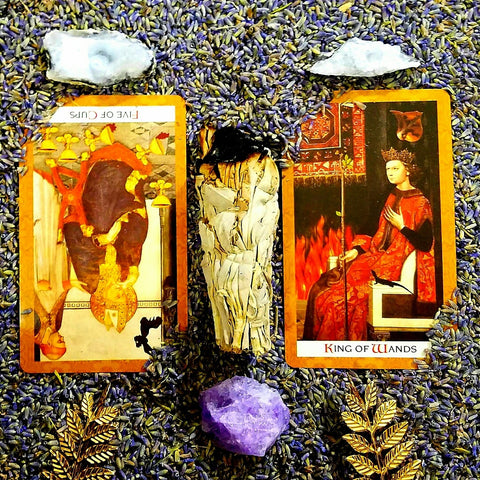 tarot cards daily read sage crystals
