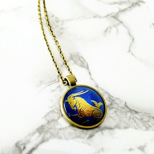 Capricorn Zodiac Necklace - L&G Gifts and Goodies