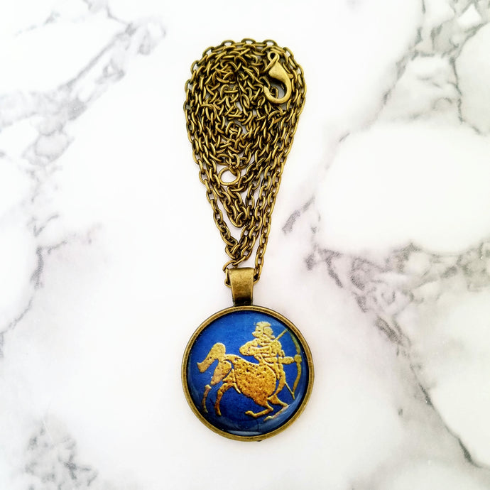 Sagittarius Zodiac Necklace - L&G Gifts and Goodies