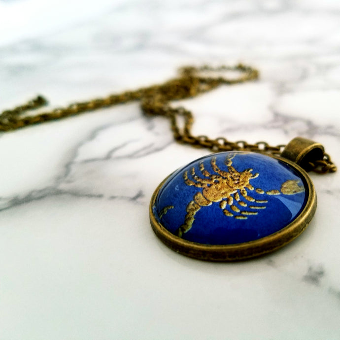 Scorpio Zodiac Necklace - L&G Gifts and Goodies