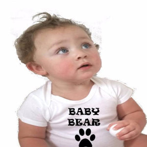 Baby Bear Paw Print Bodysuit - L&G Gifts and Goodies